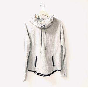 Athleta medium gray sentry pullover hoodie